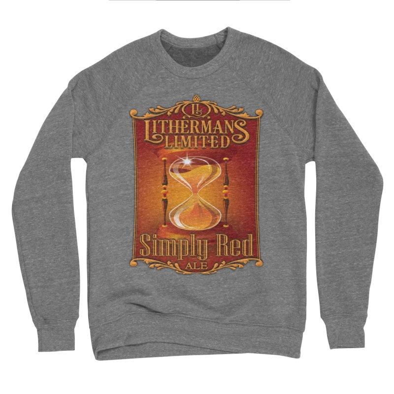 Simply Red Men's Sponge Fleece Sweatshirt by Lithermans Limited Print Shop