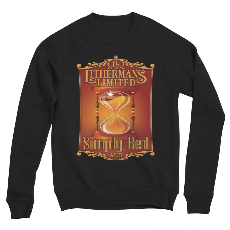 Simply Red Men's Sponge Fleece Sweatshirt by Lithermans Limited Print Shop