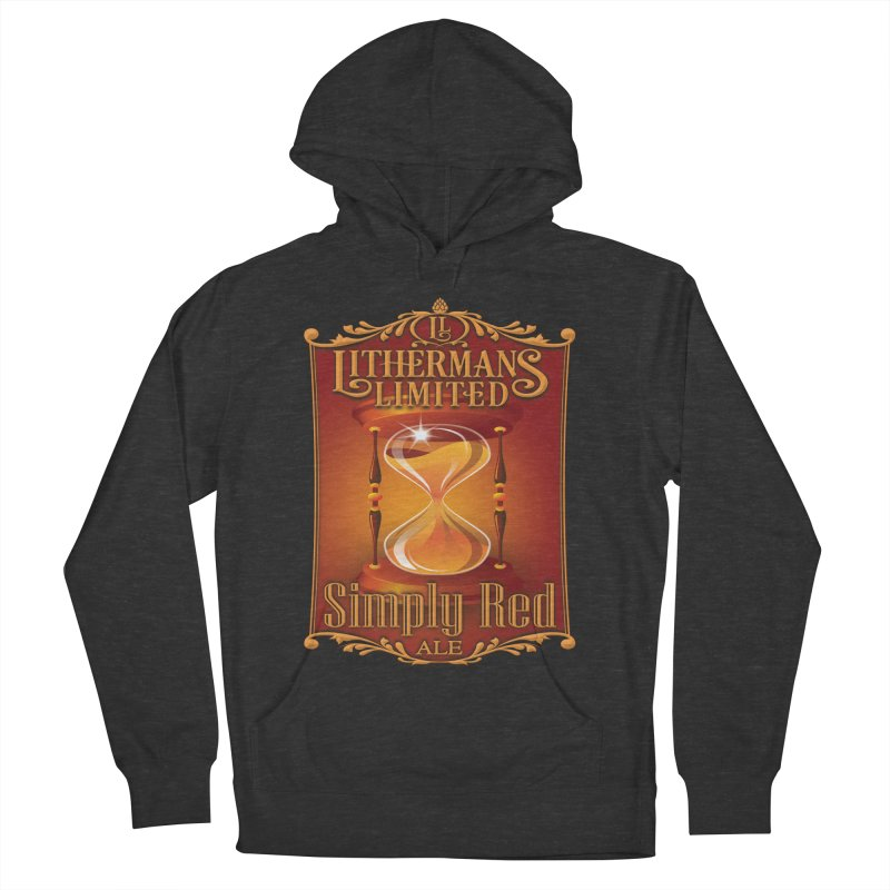 Simply Red Women's French Terry Pullover Hoody by Lithermans Limited Print Shop