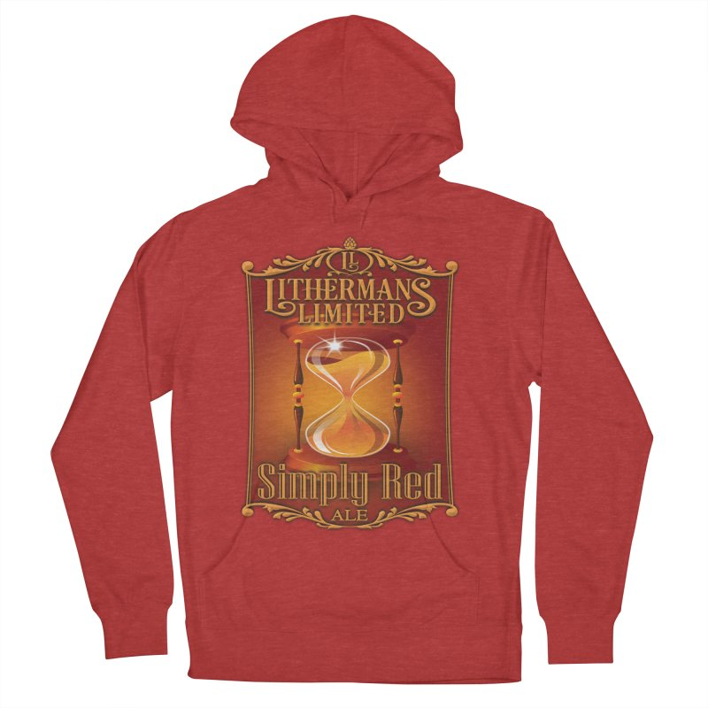 Simply Red Men's French Terry Pullover Hoody by Lithermans Limited Print Shop