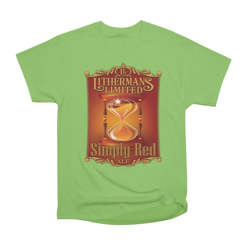 Simply Red Men's Heavyweight T-Shirt by Lithermans Limited Print Shop