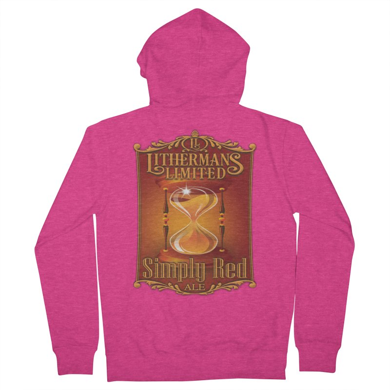 Simply Red Women's French Terry Zip-Up Hoody by Lithermans Limited Print Shop