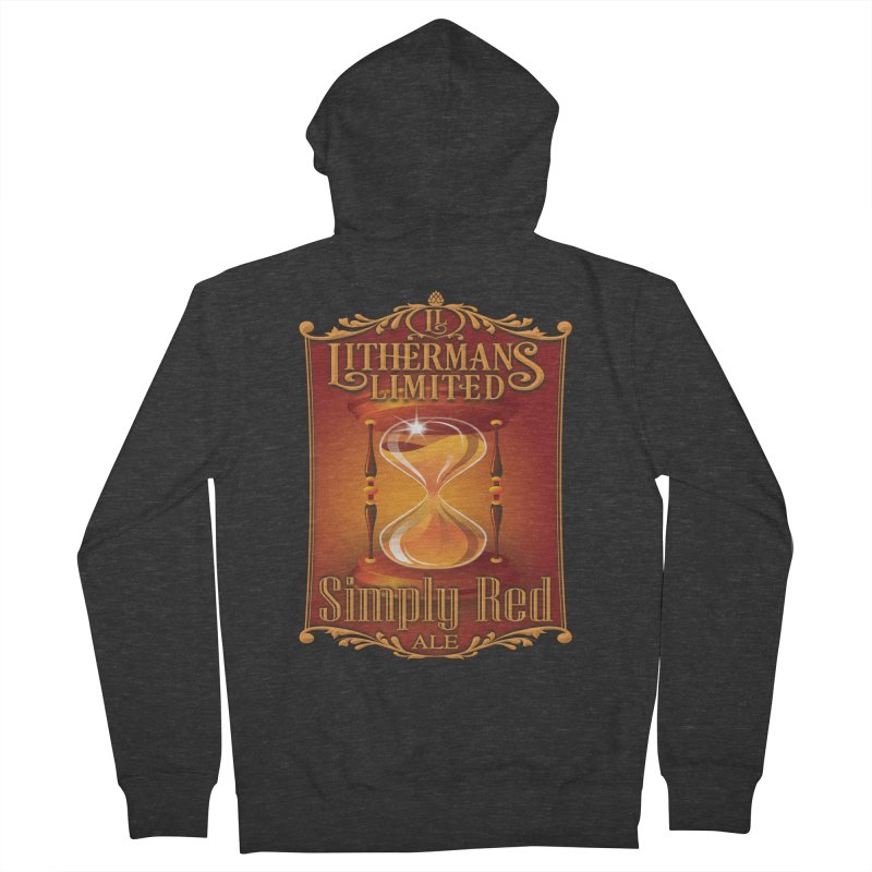Simply Red Men's French Terry Zip-Up Hoody by Lithermans Limited Print Shop