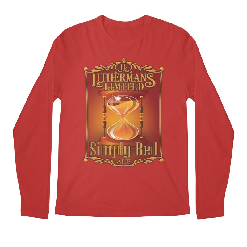 Simply Red Men's Regular Longsleeve T-Shirt by Lithermans Limited Print Shop
