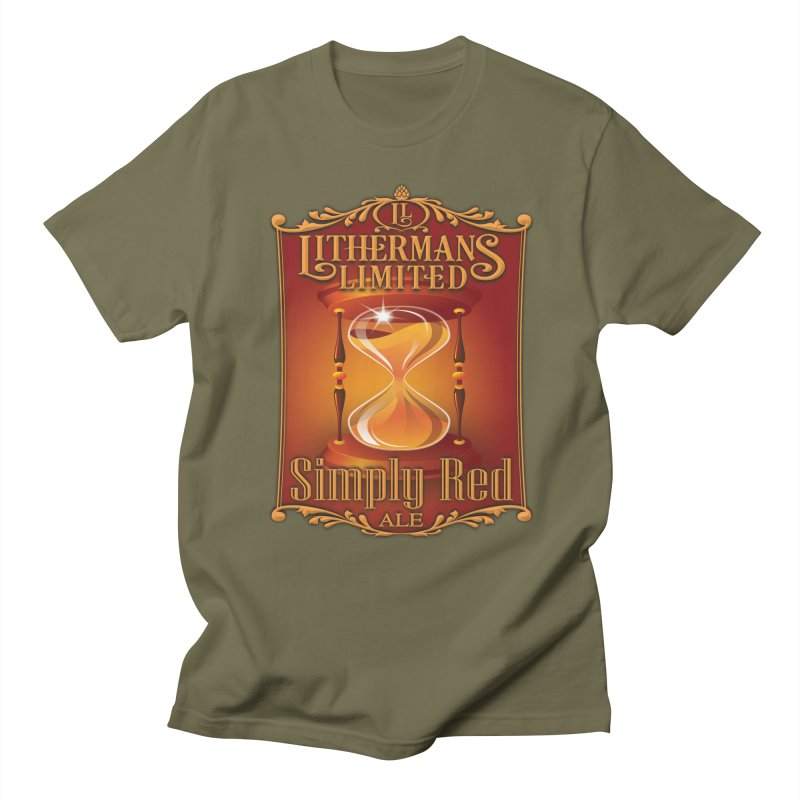 Simply Red Men's Regular T-Shirt by Lithermans Limited Print Shop