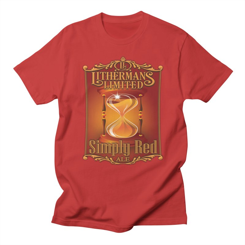 Simply Red Women's Regular Unisex T-Shirt by Lithermans Limited Print Shop