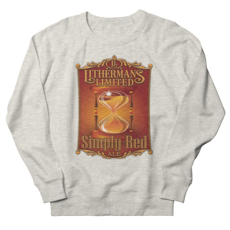 Simply Red Women's French Terry Sweatshirt by Lithermans Limited Print Shop