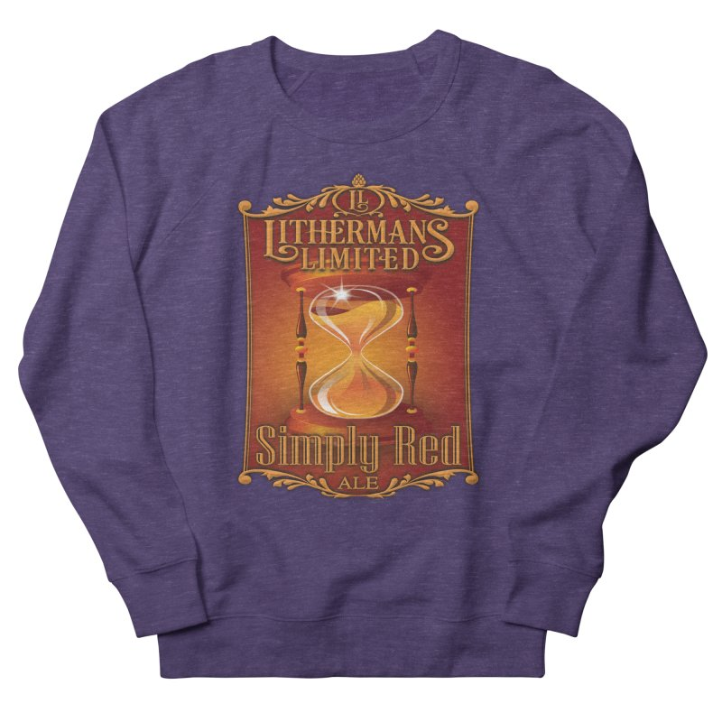 Simply Red Men's French Terry Sweatshirt by Lithermans Limited Print Shop