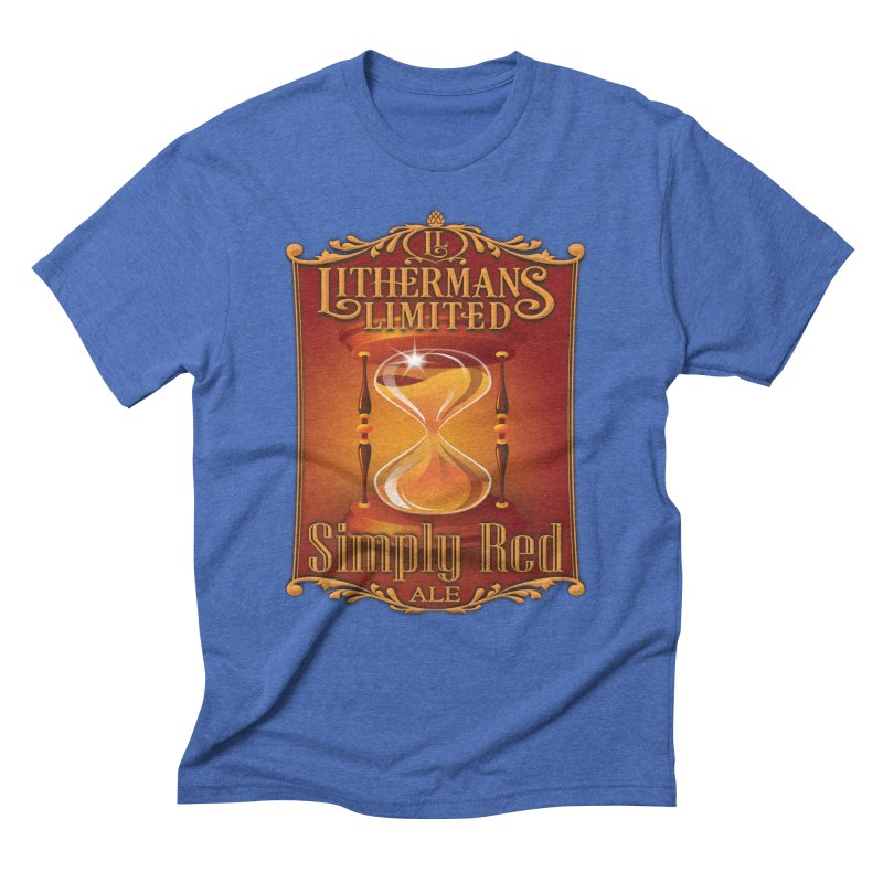 Simply Red Men's Triblend T-Shirt by Lithermans Limited Print Shop
