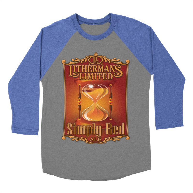 Simply Red Women's Baseball Triblend Longsleeve T-Shirt by Lithermans Limited Print Shop