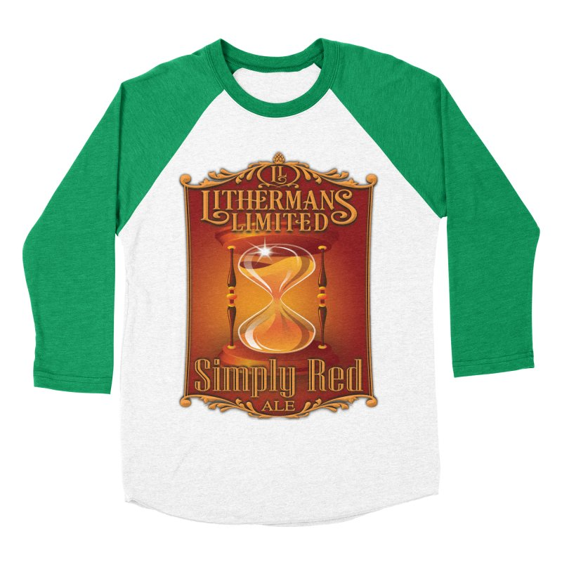 Simply Red Men's Baseball Triblend Longsleeve T-Shirt by Lithermans Limited Print Shop