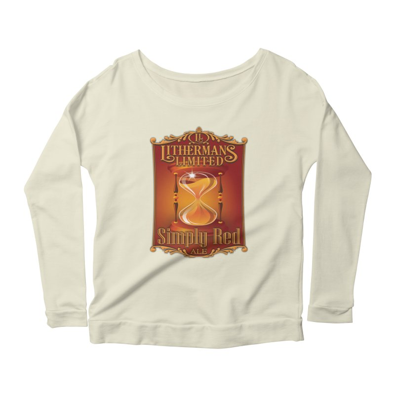 Simply Red Women's Scoop Neck Longsleeve T-Shirt by Lithermans Limited Print Shop