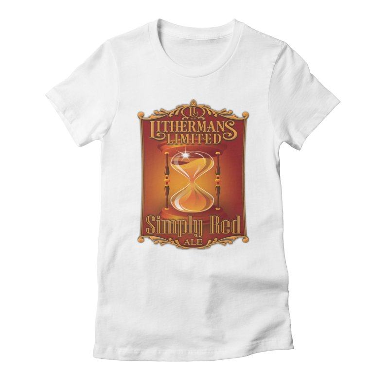 Simply Red Women's Fitted T-Shirt by Lithermans Limited Print Shop
