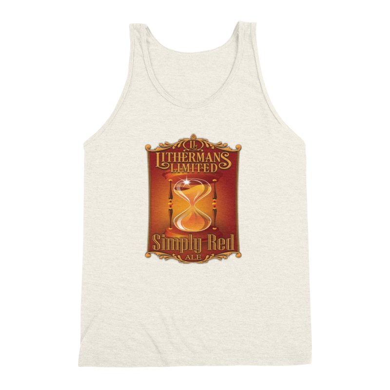 Simply Red Men's Triblend Tank by Lithermans Limited Print Shop