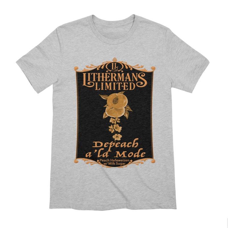 Depeach a la Mode Men's Extra Soft T-Shirt by Lithermans Limited Print Shop
