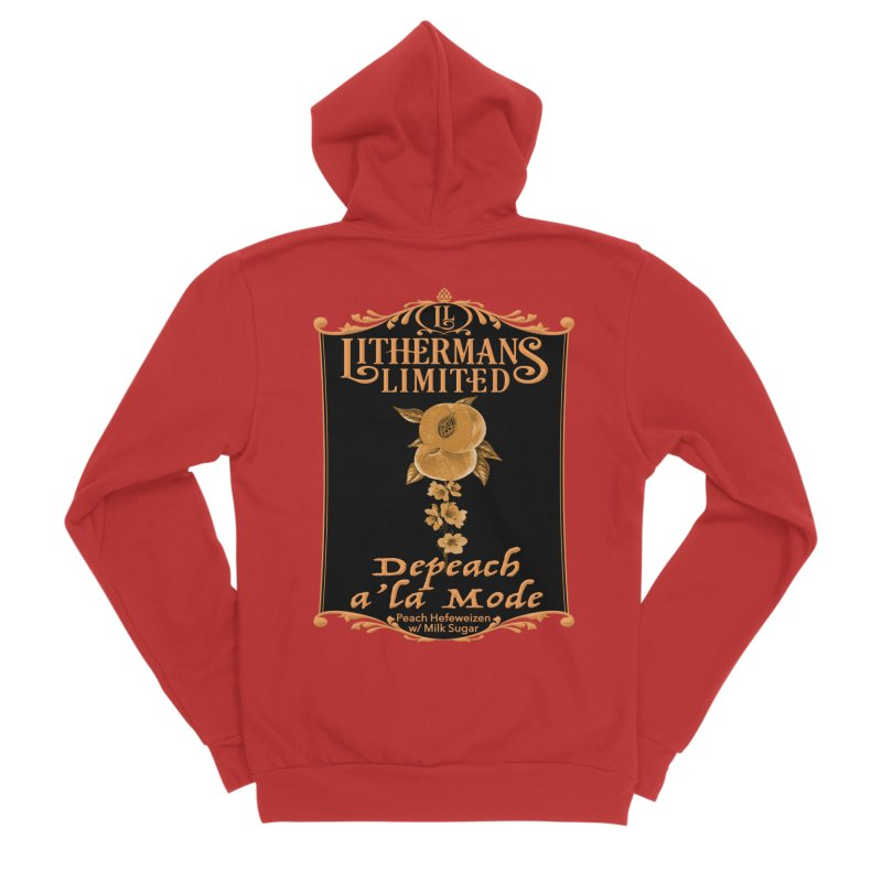 Depeach a la Mode Men's Sponge Fleece Zip-Up Hoody by Lithermans Limited Print Shop