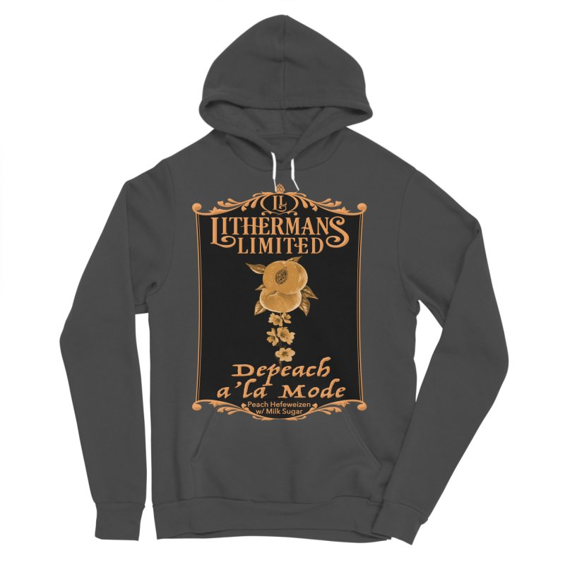 Depeach a la Mode Men's Sponge Fleece Pullover Hoody by Lithermans Limited Print Shop