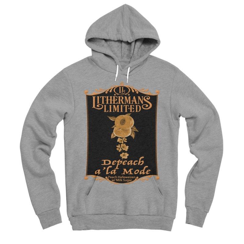 Depeach a la Mode Men's Sponge Fleece Pullover Hoody by Lithermans Limited Print Shop