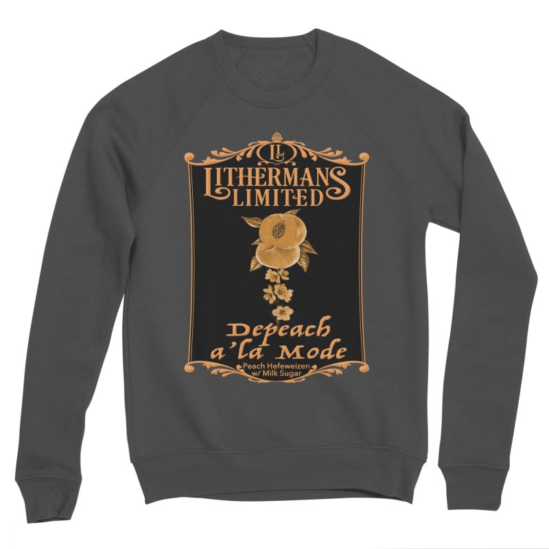 Depeach a la Mode Men's Sponge Fleece Sweatshirt by Lithermans Limited Print Shop