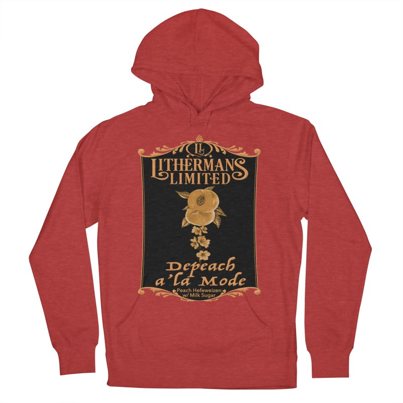Depeach a la Mode Women's French Terry Pullover Hoody by Lithermans Limited Print Shop
