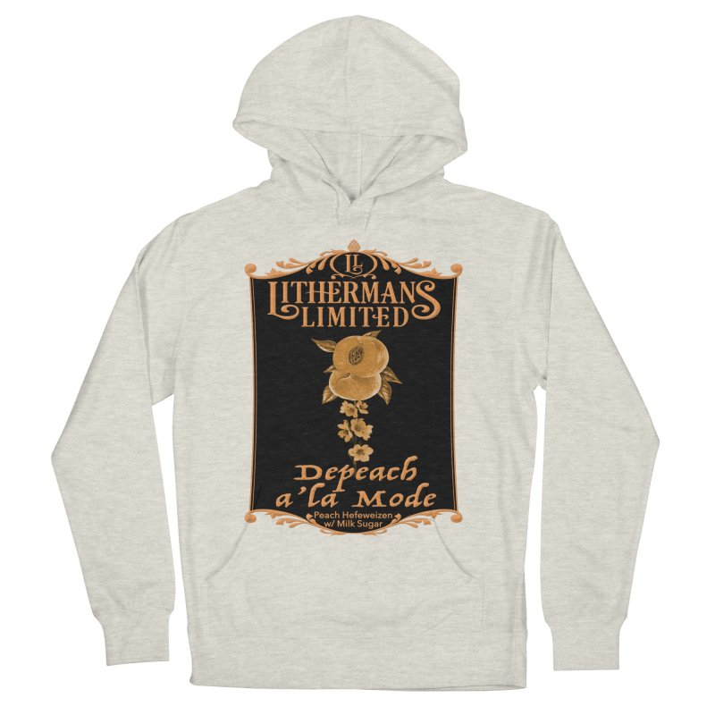Depeach a la Mode Men's French Terry Pullover Hoody by Lithermans Limited Print Shop