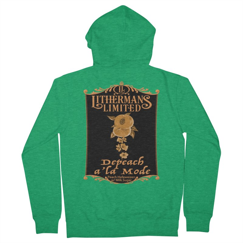 Depeach a la Mode Women's French Terry Zip-Up Hoody by Lithermans Limited Print Shop