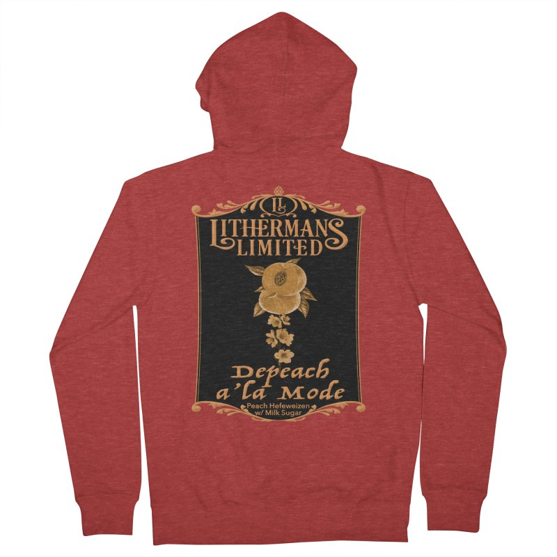 Depeach a la Mode Men's French Terry Zip-Up Hoody by Lithermans Limited Print Shop