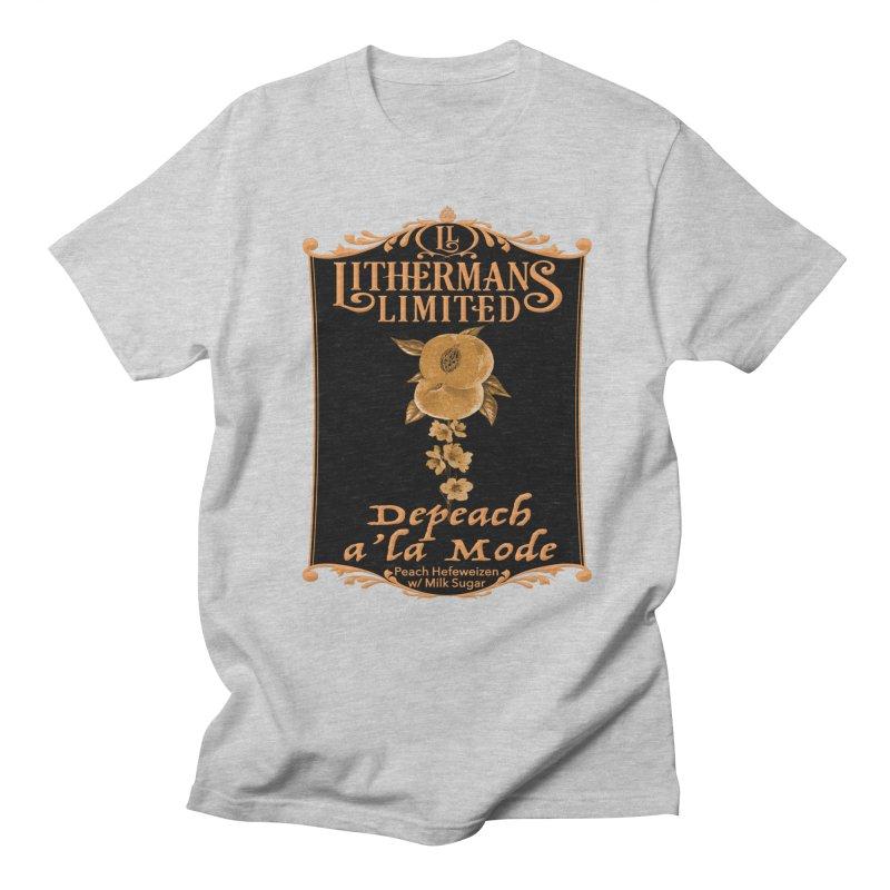 Depeach a la Mode Men's Regular T-Shirt by Lithermans Limited Print Shop