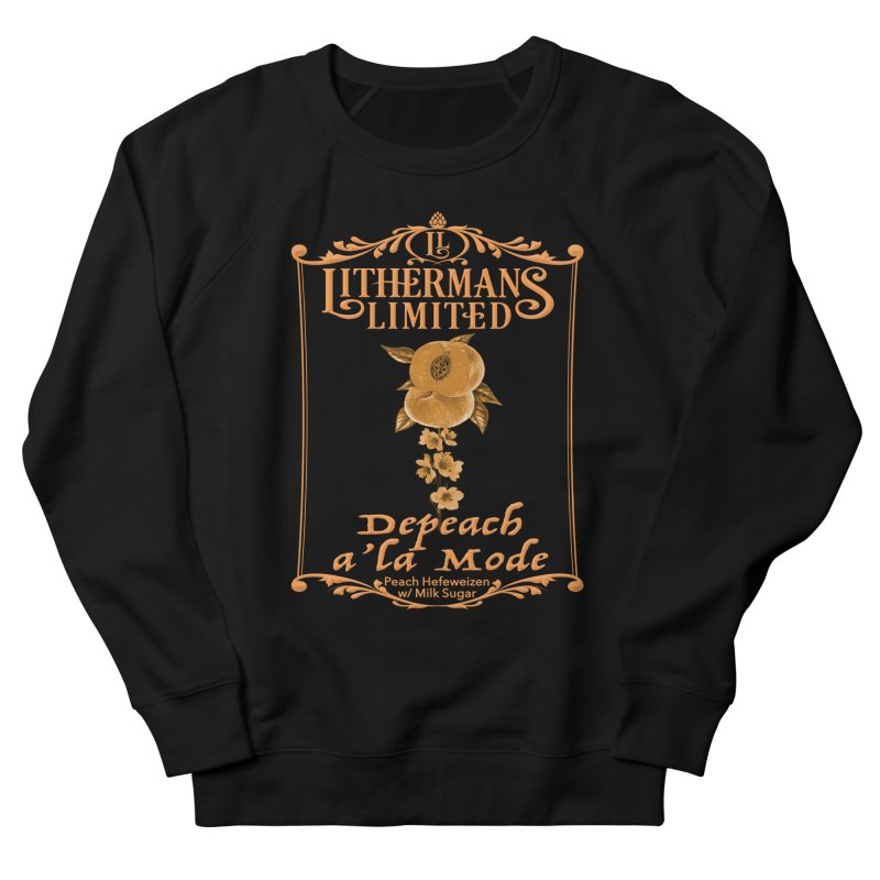 Depeach a la Mode Men's French Terry Sweatshirt by Lithermans Limited Print Shop