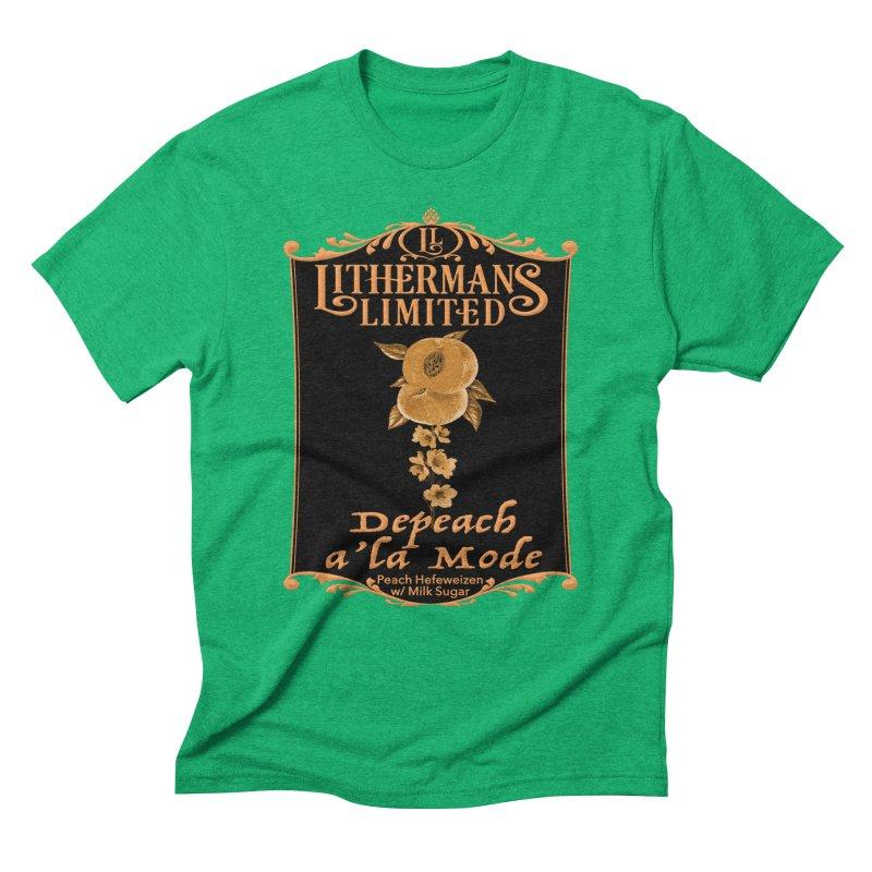 Depeach a la Mode Men's Triblend T-Shirt by Lithermans Limited Print Shop