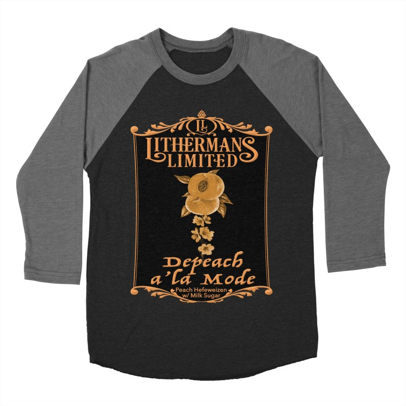 Depeach a la Mode Men's Baseball Triblend Longsleeve T-Shirt by Lithermans Limited Print Shop