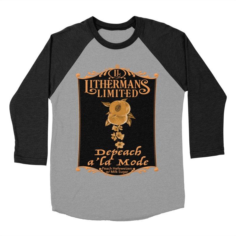 Depeach a la Mode Men's Baseball Triblend Longsleeve T-Shirt by Lithermans Limited Print Shop
