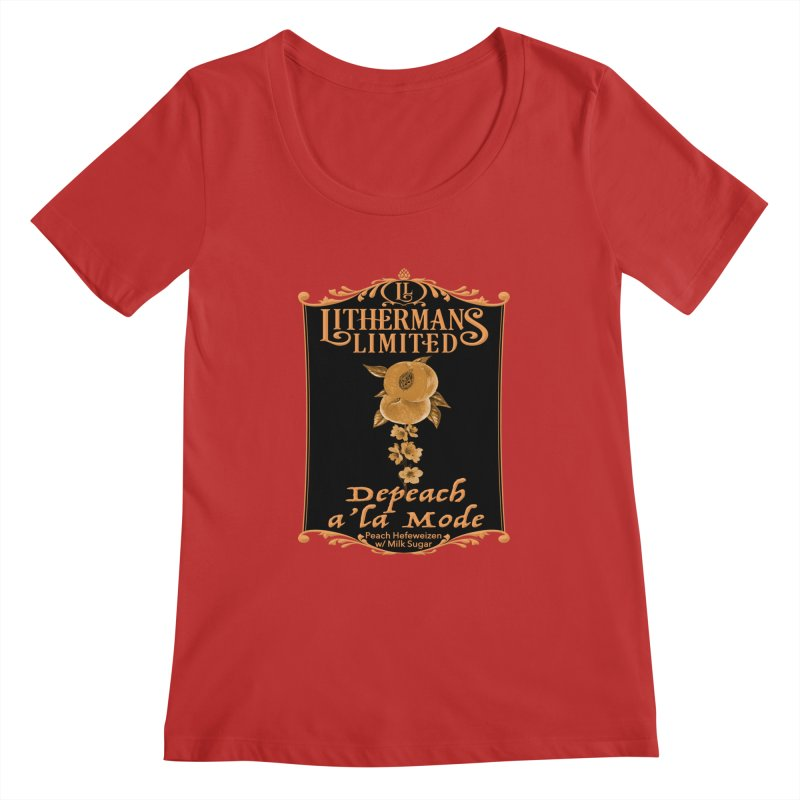 Depeach a la Mode Women's Regular Scoop Neck by Lithermans Limited Print Shop