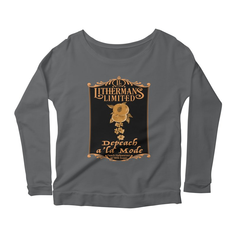Depeach a la Mode Women's Scoop Neck Longsleeve T-Shirt by Lithermans Limited Print Shop