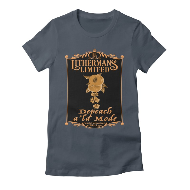 Depeach a la Mode Women's Fitted T-Shirt by Lithermans Limited Print Shop
