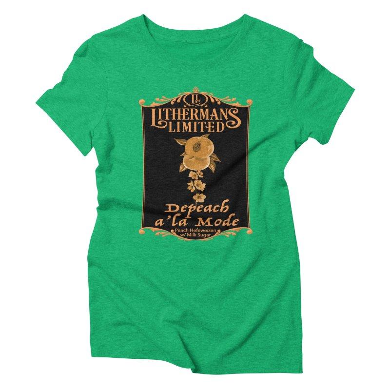 Depeach a la Mode Women's Triblend T-Shirt by Lithermans Limited Print Shop