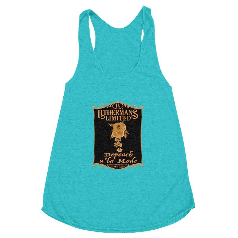 Depeach a la Mode Women's Racerback Triblend Tank by Lithermans Limited Print Shop