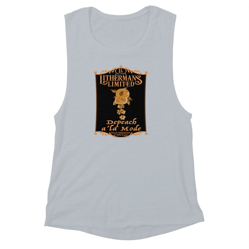 Depeach a la Mode Women's Muscle Tank by Lithermans Limited Print Shop