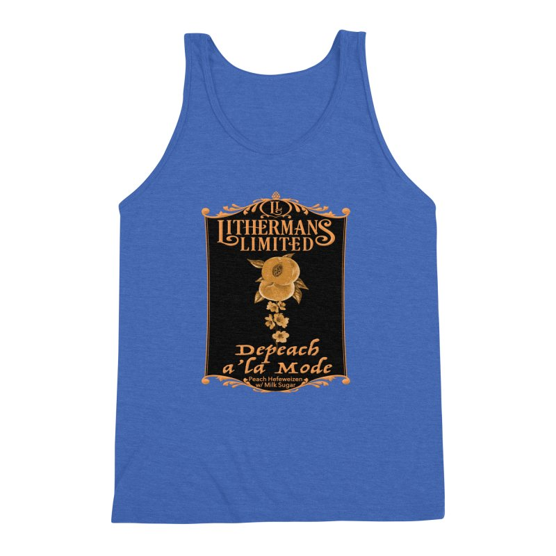 Depeach a la Mode Men's Triblend Tank by Lithermans Limited Print Shop