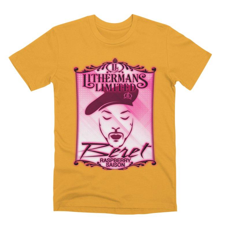 Beret Men's Premium T-Shirt by Lithermans Limited Print Shop