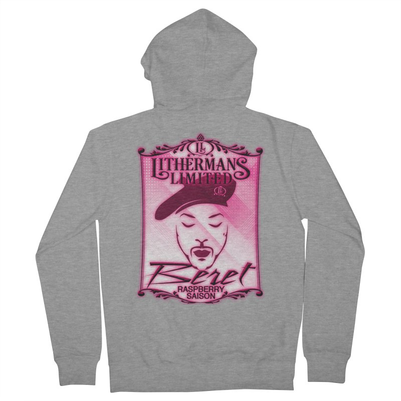 Beret Women's French Terry Zip-Up Hoody by Lithermans Limited Print Shop