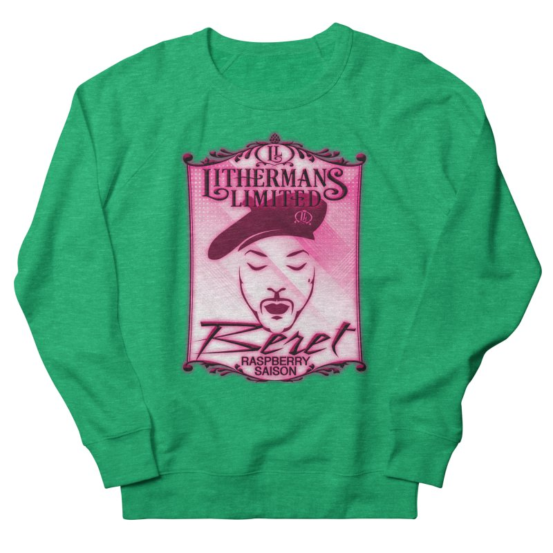 Beret Men's French Terry Sweatshirt by Lithermans Limited Print Shop