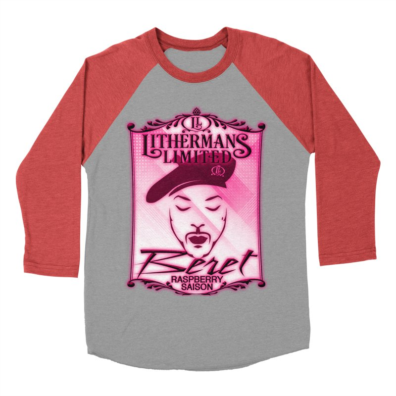 Beret Men's Baseball Triblend Longsleeve T-Shirt by Lithermans Limited Print Shop