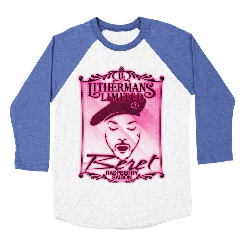 Beret Men's Baseball Triblend Longsleeve T-Shirt by Lithermans Limited Print Shop
