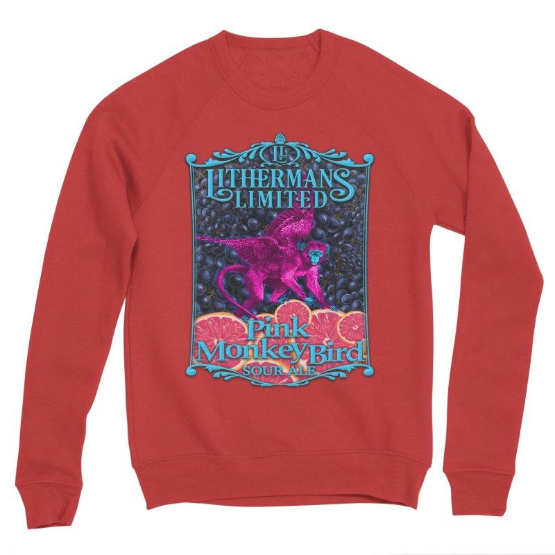Pink Monkey Bird Women's Sponge Fleece Sweatshirt by Lithermans Limited Print Shop