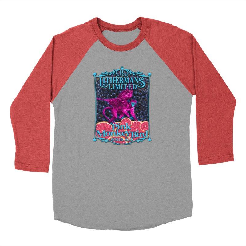 Pink Monkey Bird Men's Longsleeve T-Shirt by Lithermans Limited Print Shop