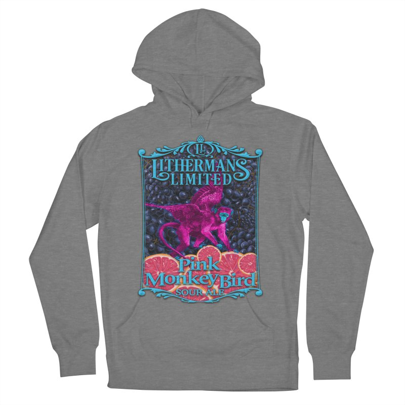 Pink Monkey Bird Women's Pullover Hoody by Lithermans Limited Print Shop