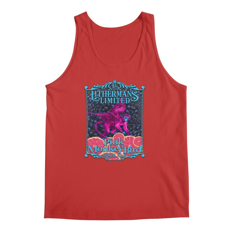 Pink Monkey Bird Men's Regular Tank by Lithermans Limited Print Shop