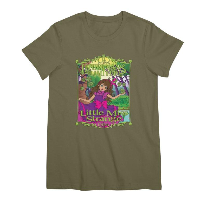 Little Miss Strange Women's Premium T-Shirt by Lithermans Limited Print Shop