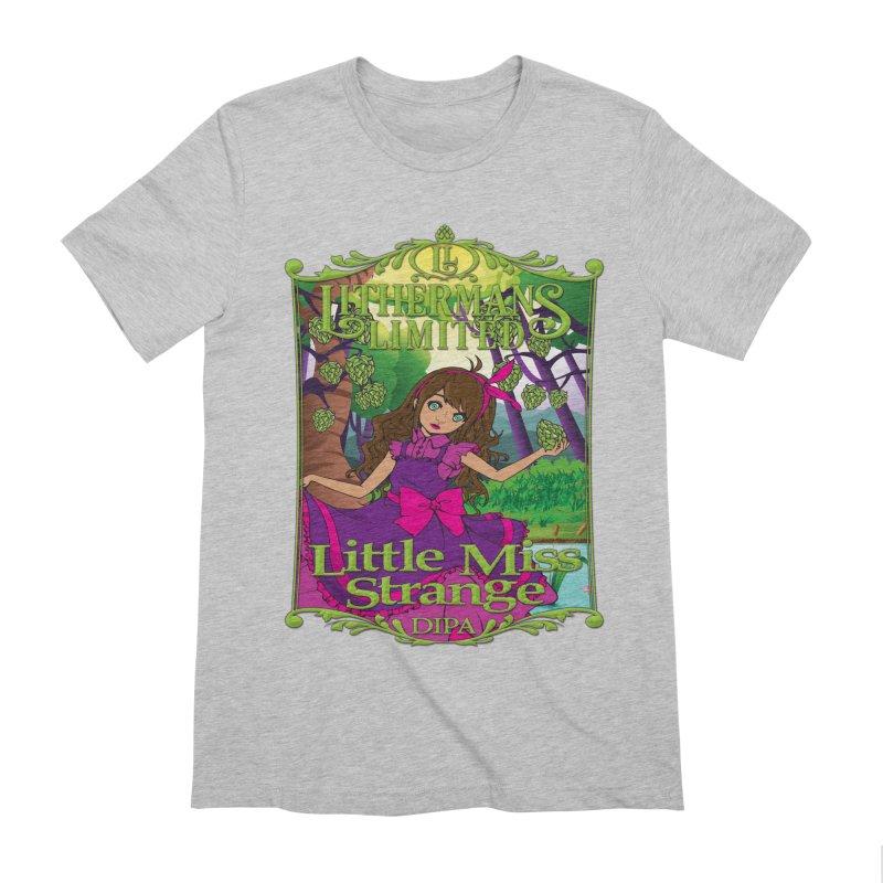 Little Miss Strange Men's Extra Soft T-Shirt by Lithermans Limited Print Shop